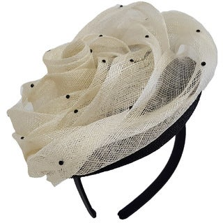 Hatch Women's Flower and Stones Sinamay Cocktail Fascinator
