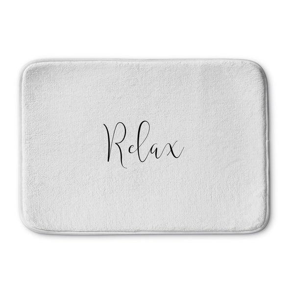 Kavka Designs Black/White Relax Memory Foam Bath Mat