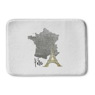 Kavka Designs Grey/Gold/White Paris Memory Foam Bath Mat