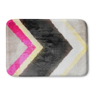 Kavka Designs Yellow/White/Black/Pink Arrow Memory Foam Bath Mat