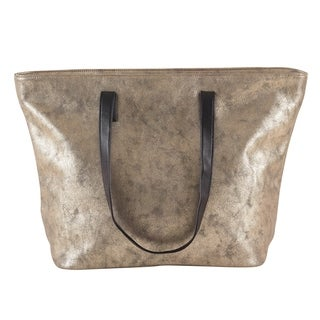 Metallic Shimmer Design Faux Leather Large Tote Bag (2 options available)