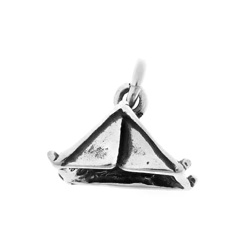 Sterling Silver Camping Tent Charm