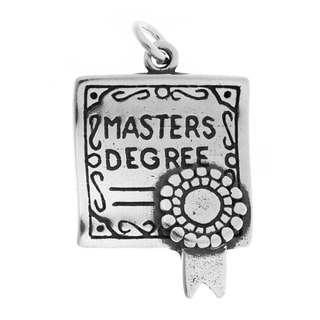 Sterling Silver Masters Degree Diploma Charm