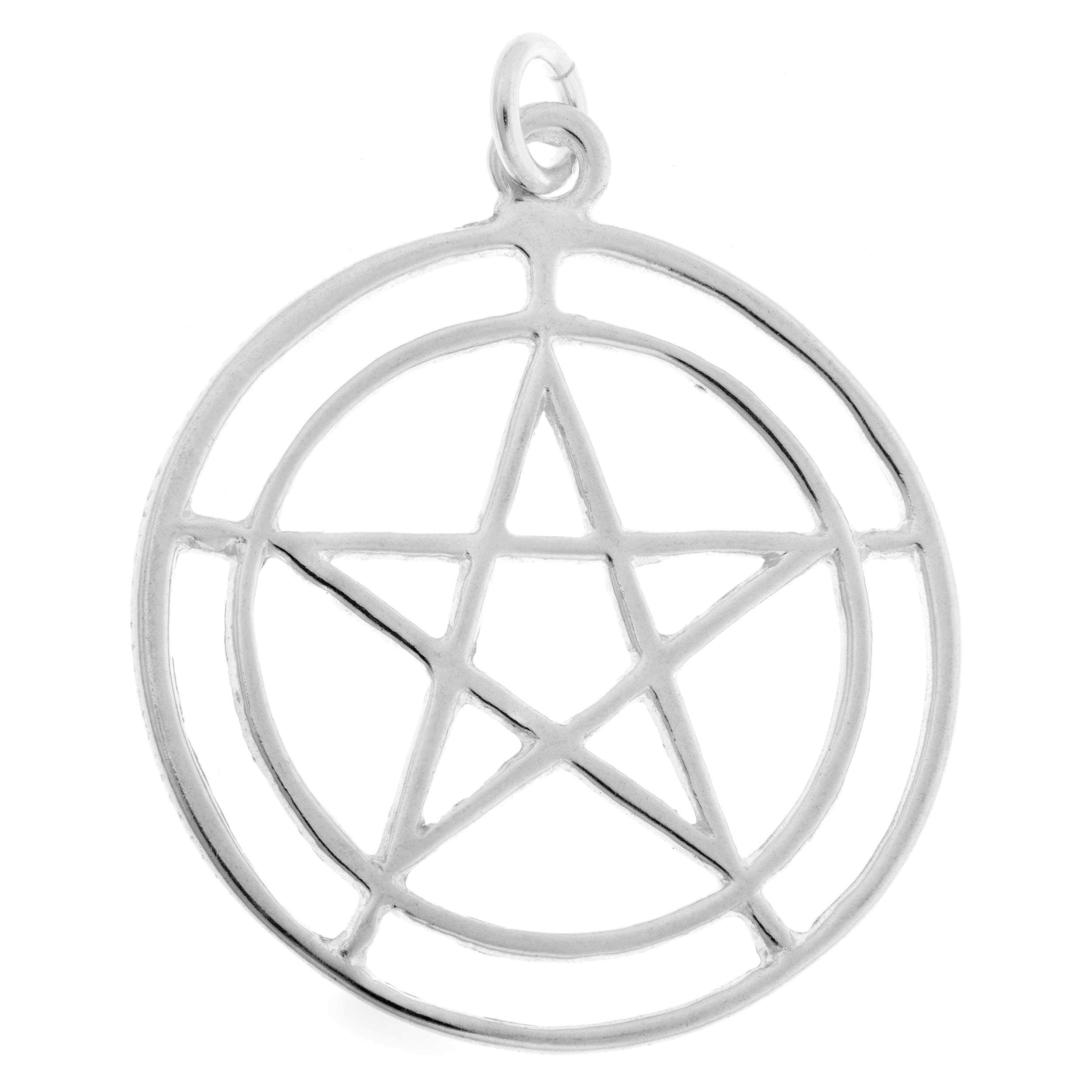 Sterling silver Pentagram Charm, Women's
