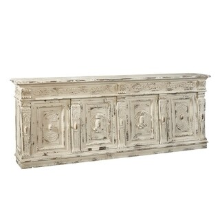 Oberon Distressed Cream-finished Pine Sideboard