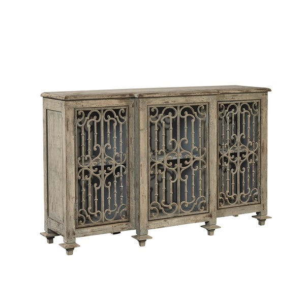 Barnabus wood wrought iron sideboard free shipping today