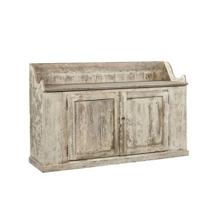 Common Home Grafton Cream-colored Wood/Metal Distressed Buffet Cabinet