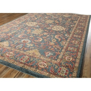 Candice Blue Scrollwork 5' x 7' - 5-ft 0-in x 7-ft 0-in