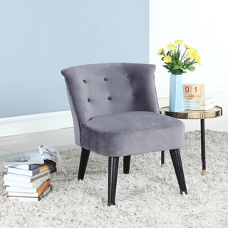 Velvet Crosier Barrel Accent Chair with Button Accents, Available in 5 Colors