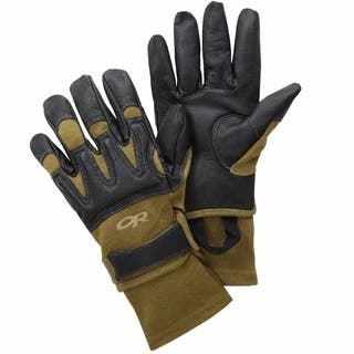 Outdoor Research Mens Rockfall Touchscreen Sensor Gloves Black / Coyote Large - black / coyote