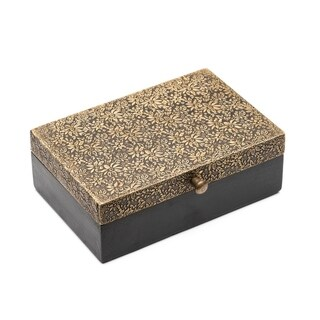 Handmade Golden Treasure Box - Large (India)