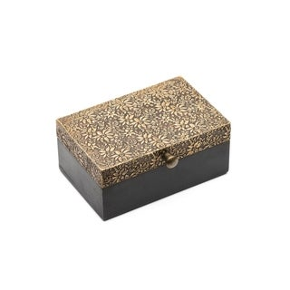 Handmade Golden Treasure Box - Small (India)