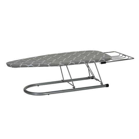 "Household Essentials 12"" x 30"" Steel Mesh Top Tabletop Board, Trellis Print Cover"