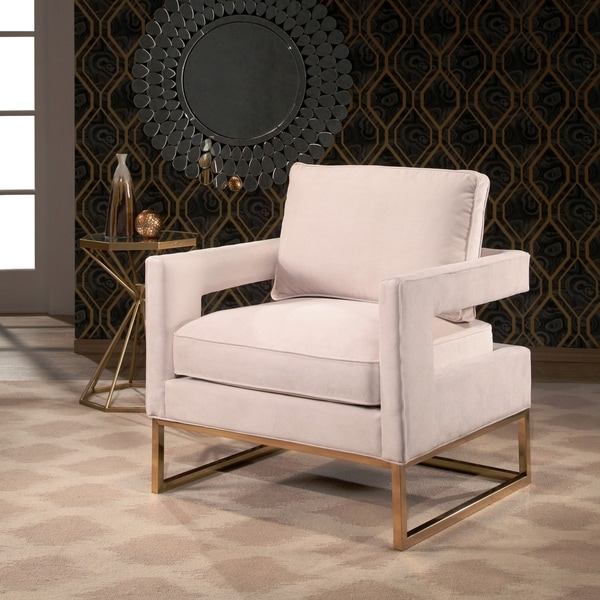 shop abbyson cromwell velvet accent chair on sale free shipping today 17627560. Black Bedroom Furniture Sets. Home Design Ideas