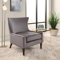 Abbyson Auburn Velvet Wingback Chair