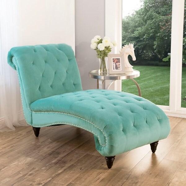 Shop Abbyson Felice Tufted Velvet Chaise