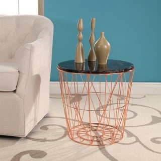 Abbyson Firenze Marble End Table