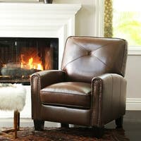 Abbyson Carlsbad Pushback Leather Recliner