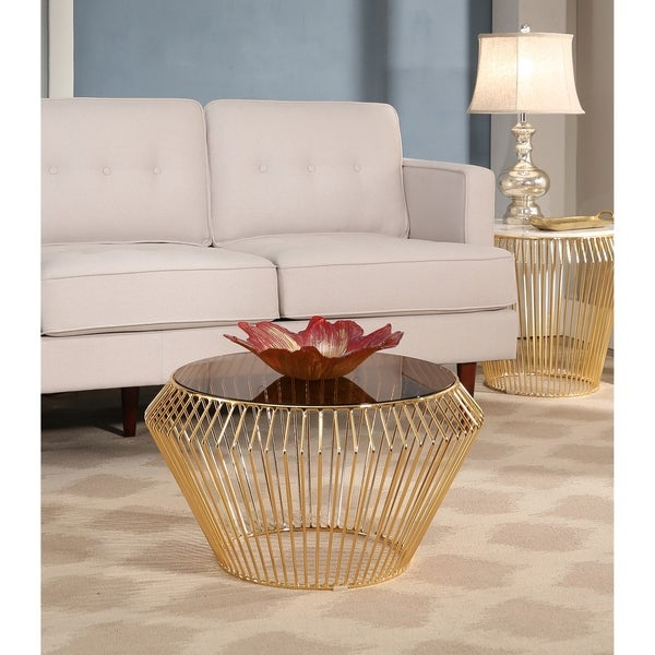 Gold Outdoor Coffee Table: Shop Abbyson Termoli Gold Coffee Table