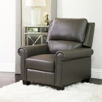 Abbyson Whitley Pushback Leather Recliner