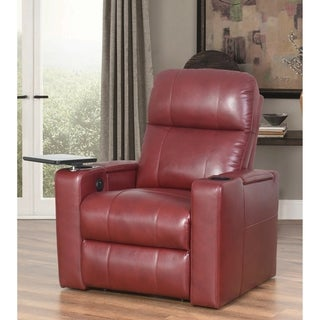 Abbyson Rider Leather Power Recliner