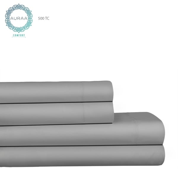 Luxury Solid Colored Pima Cotton 500 Thread Count Sheet Set