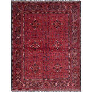 Hand-knotted Finest Khal Mohammadi Red Wool Rug - 5'1 x 6'6