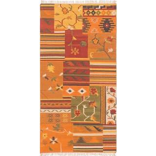 Ecarpetgallery Flatweave Izmir Kilim Orange Wool 4 0 X 7 11