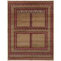 eCarpetGallery Hand-Knotted Peshawar Bokhara Brown  Wool Rug (8'4 x 10'1)