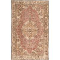 eCarpetGallery Hand-Knotted Antalya Vintage Brown  Wool Rug (5'4 x 8'5)