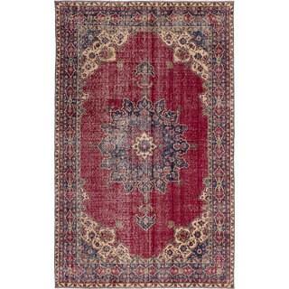 eCarpetGallery Hand-Knotted Anadol Vintage Red Wool Rug (5'7 x 9'4)