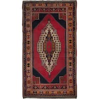 eCarpetGallery Hand-Knotted  Anatolian Vintage Red  Wool Rug (4'7 x 8'7)