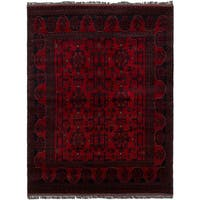 eCarpetGallery Hand-Knotted  Finest Khal Mohammadi Red  Wool Rug (4'11 x 6'7)