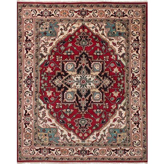 eCarpetGallery Hand-Knotted Royal Heriz Red  Wool Rug (8'0 x 10'0)