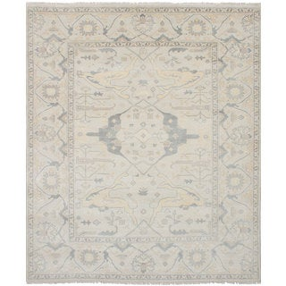 eCarpetGallery Hand-Knotted Royal Ushak Grey Wool Rug (8'0 x 9'9)