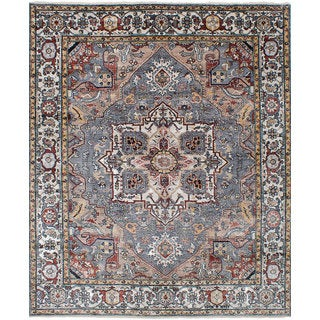 eCarpetGallery Hand-Knotted Sterling Grey Bamboo Silk Rug (8'2 x 10'0)