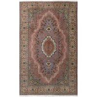 eCarpetGallery Hand-Knotted Hereke Brown  Wool Rug (6'11 x 11'7)