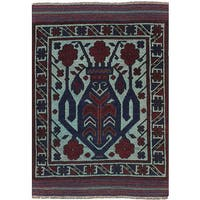 eCarpetGallery Hand-Knotted Color Transition Blue, Red  Wool Rug (2'9 x 4'2)