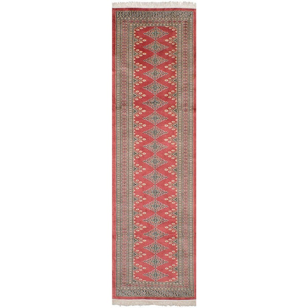 eCarpetGallery Hand-Knotted Finest Peshawar Bokhara Brown Wool Rug (2'9 x 10'3)