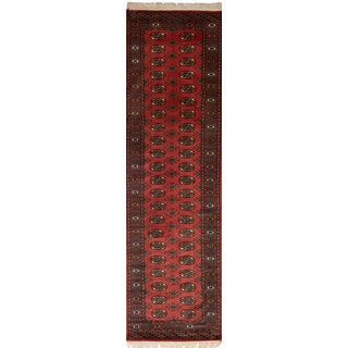 eCarpetGallery Hand-Knotted Finest Peshawar Bokhara Brown Wool Rug (2'8 x 10'1)