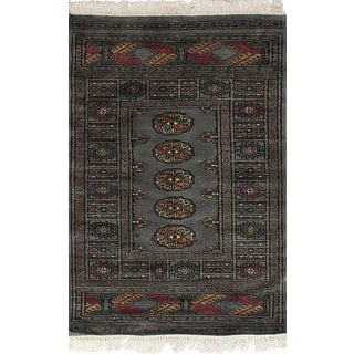 eCarpetGallery Hand-Knotted Finest Peshawar Bokhara Grey Wool Rug (2'7 x 3'11)|https://ak1.ostkcdn.com/images/products/17628238/P23843041.jpg?impolicy=medium