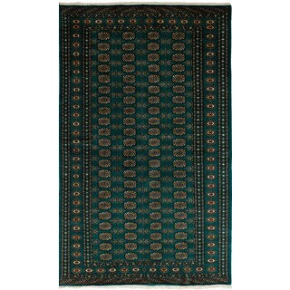 eCarpetGallery Hand-Knotted Finest Peshawar Bokhara Green Wool Rug (5'2 x 8'6)