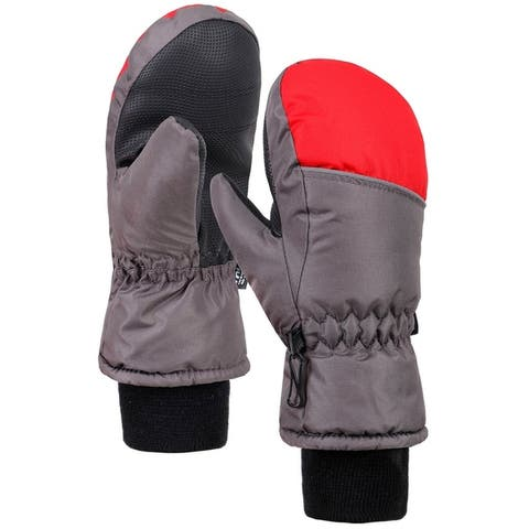 Boys Thinsulate Water Resistant Ski Gloves, Long Snow Cuff