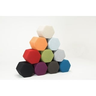 Hexagon Bench Ottoman Set of Two