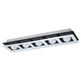 Eglo Bellamonte Brushed Aluminum and Black Finish Ceiling Light
