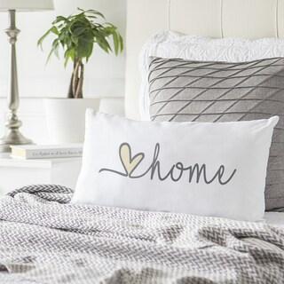 Love Home Lumbar Throw Pillow