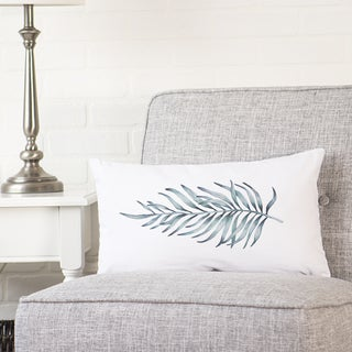 Palm Leaf Lumbar Pillow