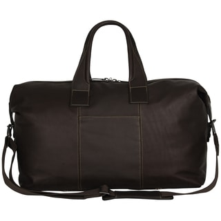 Kenneth Cole New York Glazed Colombian Leather 20-inch Top Zip Travel Duffel Bag