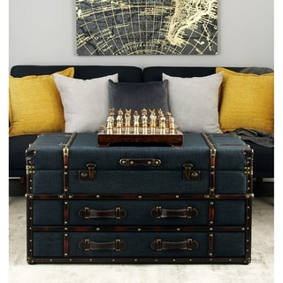 Studio 350 Wood/Fabric 40-inch Wide x 21-inch High Coffee Table
