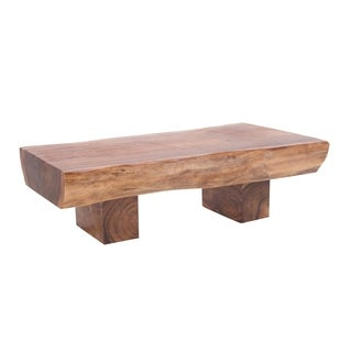 Studio 350 Suar Brown Rain Tree Wood 59-inches Wide x 19-inches High Coffee Table